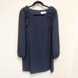 ELIZA J Navy Ruffle Sleeve Dress SZ 12